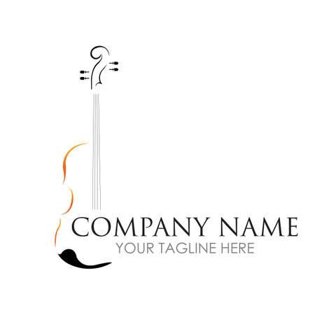 Violin / classical music - vector logo illustration design template