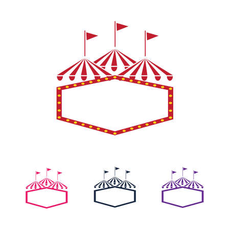 Circus vector illustration design logo emblems template