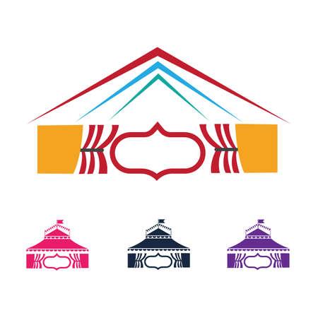 Circus vector illustration design logo emblems template