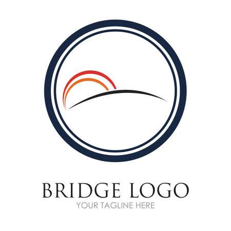 Bridge Logo Template vector icon illustration design