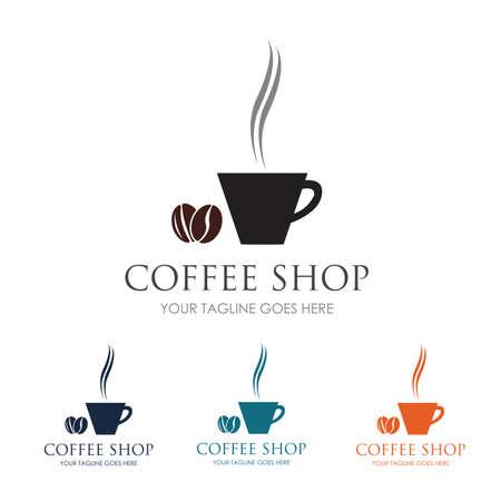 Coffee Shop Logo Icon Template Design Vector Illustration