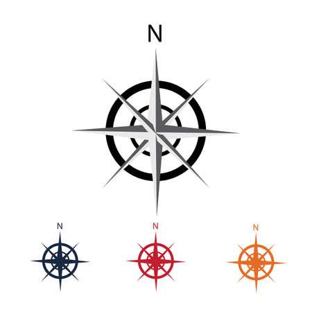Modèle de logo de boussole vecteur icône illustration design Logo