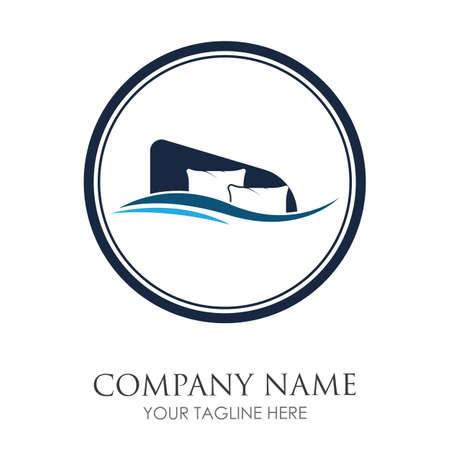 pillow logo symbol vector illustration design template pillow logo concept for your business Logo