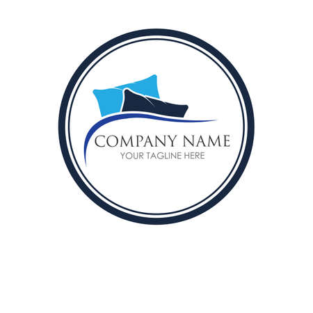 pillow logo symbol vector illustration design template pillow logo concept for your business
