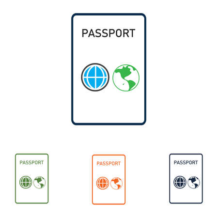 Passport Icon Vector Logo Template international passport vector Icon - Travel, Boarding, Airport, Document Vector illustration