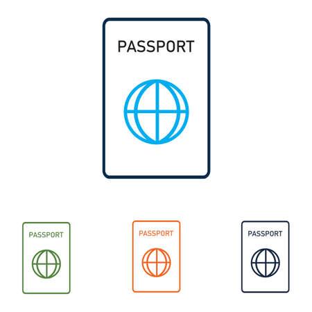 Passport Icon Vector Template international passport vector Icon - Travel, Boarding, Airport, Document Vector illustration