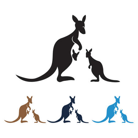 kangaroo Logo Template vector illustration design Logos