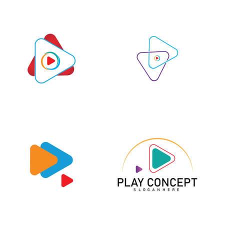Colorful Play logo design concept. Play logo template vector. Icon Symbol Logo