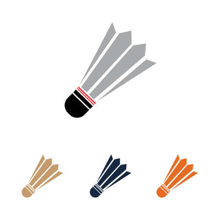 Shuttlecock vector illustration Badminton Logo Icon Template