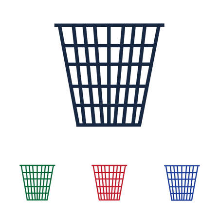 trash can icon vector illustration