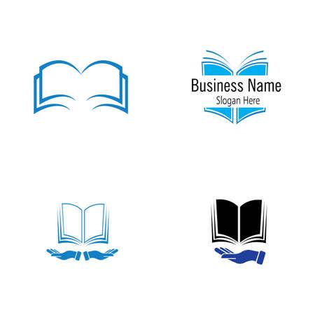 book logo and bookstore icon vector design template Book Logo Template vector Illustration design Logos