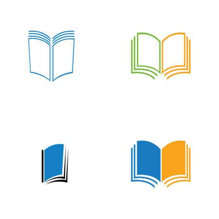 book logo and bookstore icon vector design template Book Logo Template vector Illustration design Logo