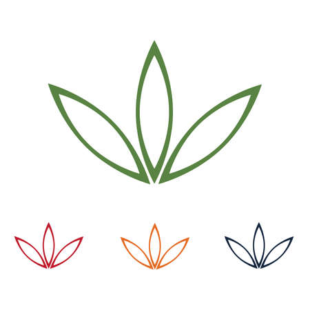Cannabis leaf vector illustration icon design vector cannabis or marijuana icon logo for medical or pharmacy industry
