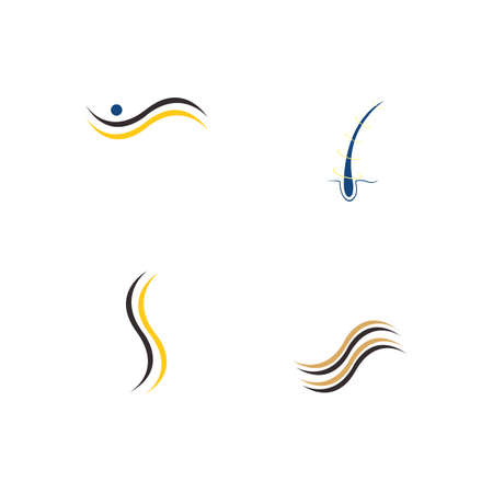 Hair treatments vector icon Illustration design template.