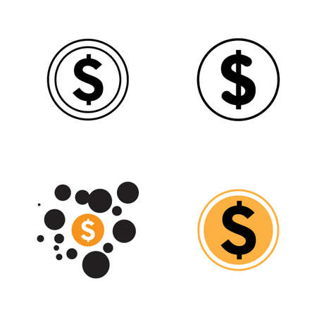 dollar money vector icon illustration design template - vector