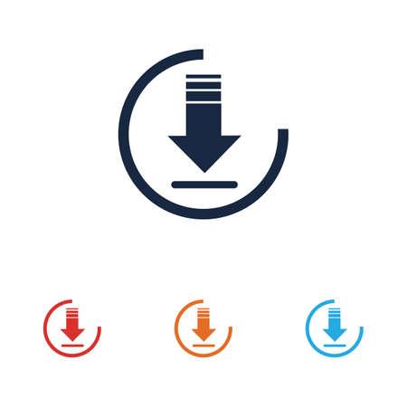 Download icon vector symbol illustration design template Иллюстрация