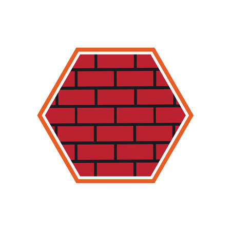 Brick Building logo design vector, Brickwork simple modern logo template, Emblem, Design Concept, Creative Symbol, Icon Ilustração