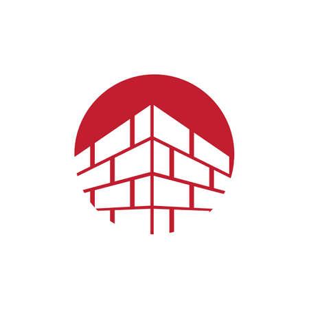Vecteur de conception de logo de bâtiment de brique, modèle de logo moderne simple de briquetage, emblème, concept de conception, symbole créatif, icône Logo
