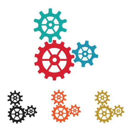 Gear Logo Template vector icon illustration design ЛОГОТИПЫ