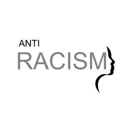 vector illustration anti racism logo design template,stop racism. 일러스트