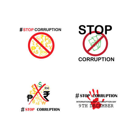 Stop Corruption and International Anti-Corruption Day Vektorgrafik