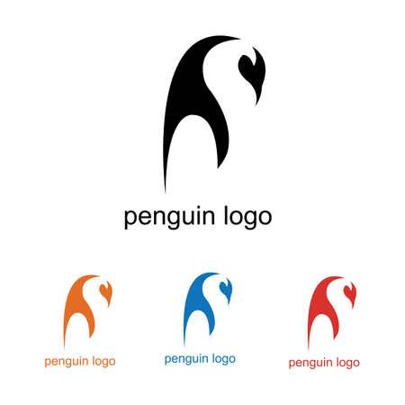 penguin bird vector logo, arctic animal symbol  イラスト・ベクター素材