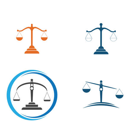 justice law Logo Template vector illsutration design