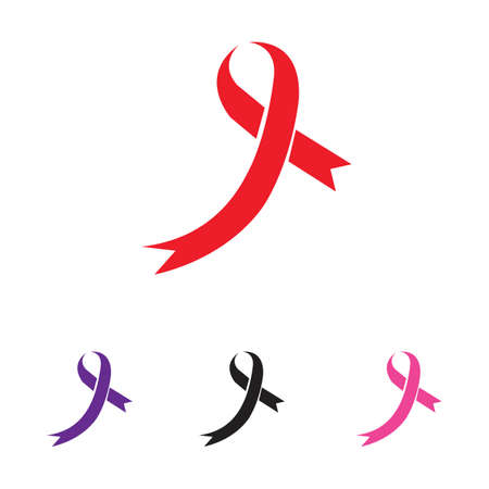 colorful ribbons symbol illustration design template - vector Illustration