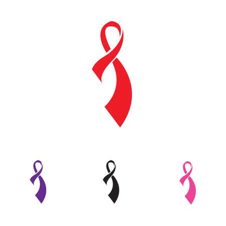 colorful ribbons symbol illustration design template - vector Иллюстрация