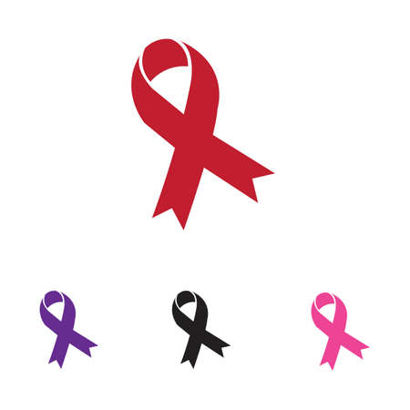colorful ribbons logo symbol illustration design template - vector