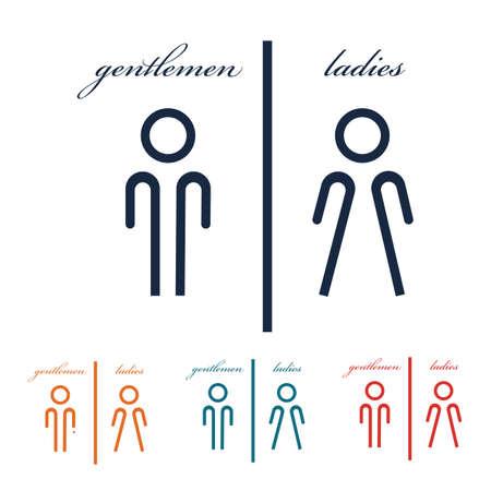 wc/toilet man women icon vector design template