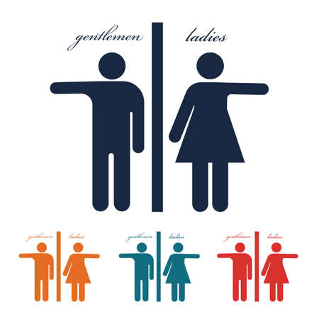 toilet man women icon vector design template Stock Illustratie