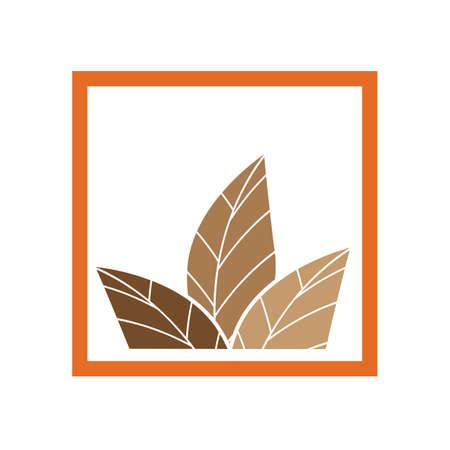 tobacco leaf logo illustration design template - vector Logo