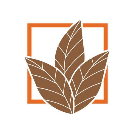 tobacco leaf logo illustration design template - vector