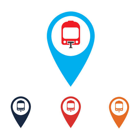 Transport buttons set with map Vector illustration transportation map point icon transport pointers on map