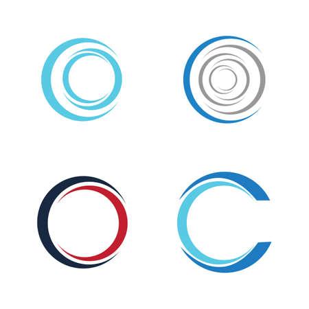 Circle icon illustration design template - Vector
