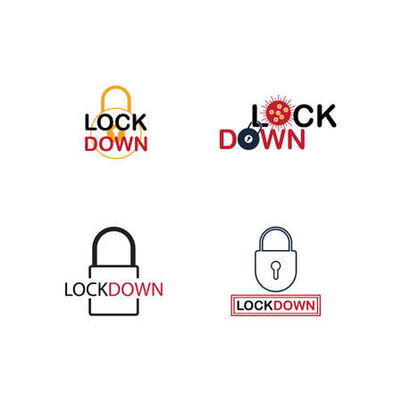 Lockdown logo design vector. icon lockdown. Global pandemic health warning concept