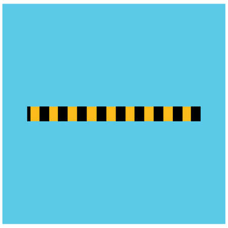 Black and yellow police stripe Vector illustration design