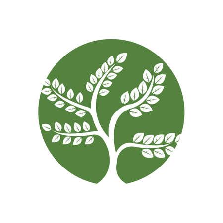 Tree logo template vector icon illustration