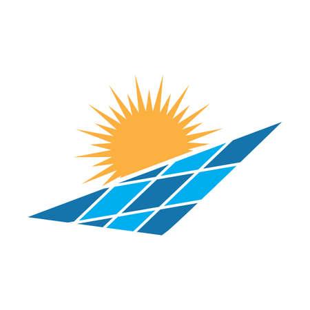 Solar logo energy icon vector design Logo