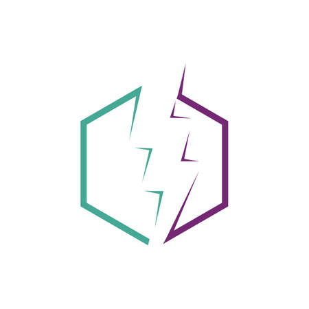 Thunder and Bolt Lighting Flash Icons Set. Flat Style on Dark Background. Vector - Vector