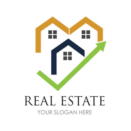 Real estate logo icon illustration - Vector
