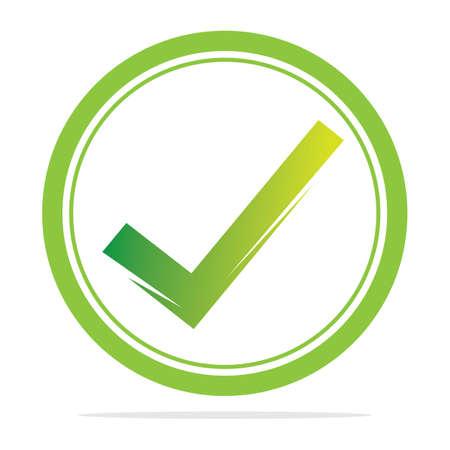 check mark icon vector illustration design template