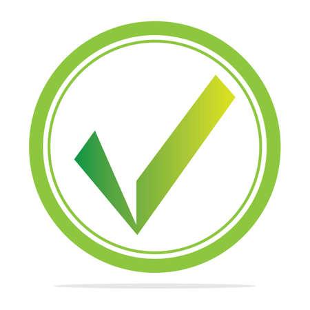 check mark icon vector illustration design template Ilustración de vector