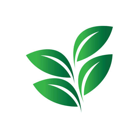 green leaf icon Vettoriali