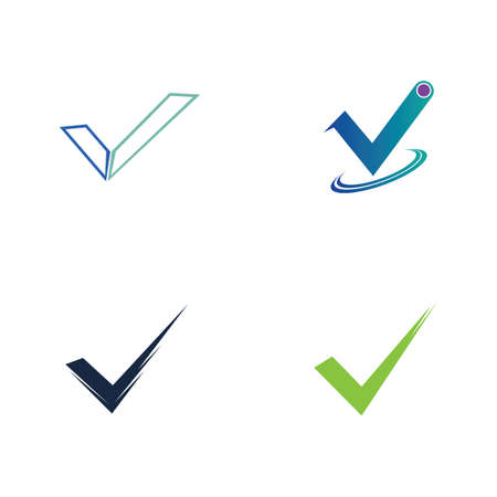 check mark icon vector illustration design template