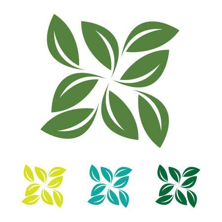 eco green leaf logo vector Logo