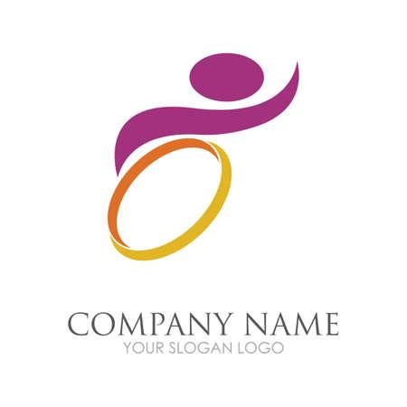 disability logo vector illustration design template - vector Reklamní fotografie - 157217877