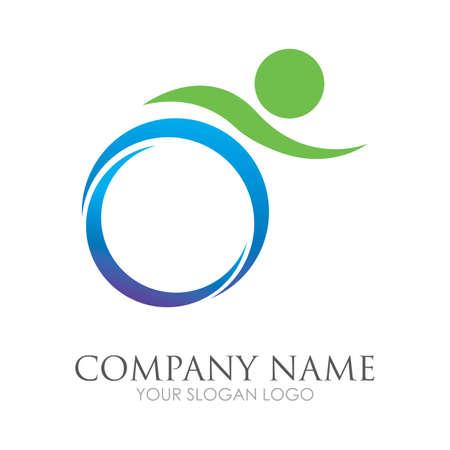 disability logo vector illustration design template - vector Reklamní fotografie - 157217881