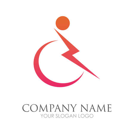 disability logo vector illustration design template - vector Reklamní fotografie - 157217882
